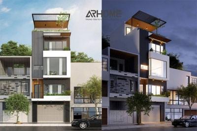 Gợi ý thiết kế nhà phố 4 tầng hiện đại nhất 2018