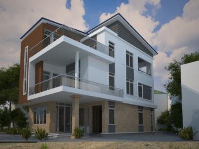4 mẫu thiết kế biệt thự 3 tầng hiện đại, sang trọng