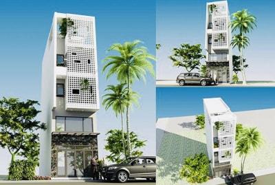 Thiết kế nhà phố 4 tầng 4x10m cho gia chủ sinh năm 1984