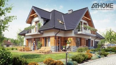 Xu hướng thiết kế biệt thự nhà vườn phong cách đồng quê kiểu Pháp tuyệt đẹp