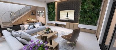 Chiêm ngưỡng vẻ đẹp hiện đại trong 2 mẫu thiết kế nội thất phòng khách tuyệt đẹp của Arhome