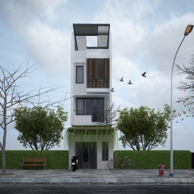 Mẫu nhà phố 4 tầng ngang 7m kết hợp với nhà xưởng vô cùng độc lạ