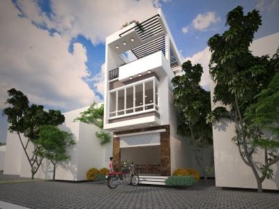 Những mẫu nhà phố 3 tầng mặt tiền 3.9m hiện đại nhất