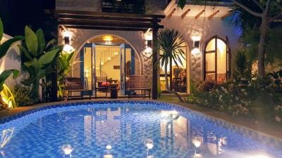 Cải tạo nhà cũ thành nơi nghỉ dưỡng tiện nghi phong cách kiến trúc Địa trung hải