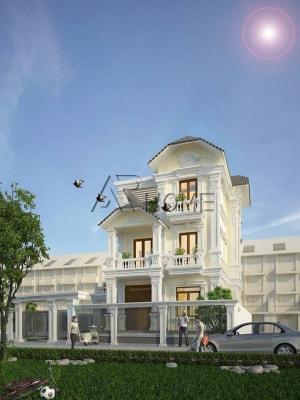 Sang trọng với thiết kế biệt thự 3 tầng tân cổ điển nhà anh Trung, Quảng Ninh