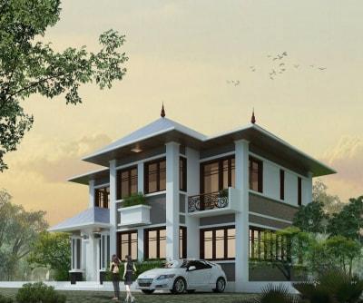 Chiêm ngưỡng mẫu thiết kế biệt thự mái thái đẹp ấn tượng