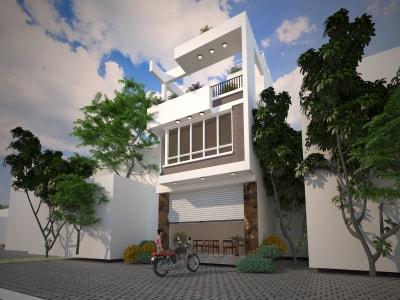 Cuốn hút trong mẫu nhà phố 2 tầng 1 tum tuyệt đẹp tại Hà Nội