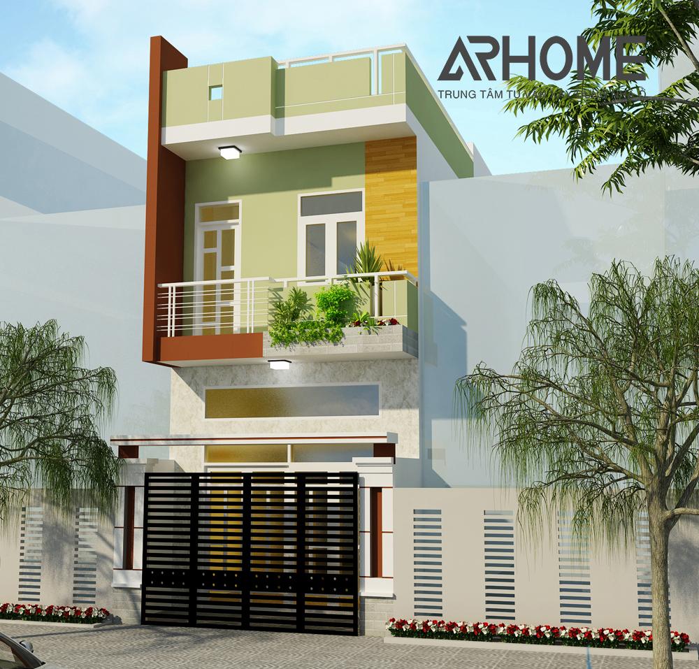 Ấn tượng với mẫu thiết kế nhà phố 2 tầng 4x15m lệch tầng độc đáo