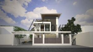 Độc đáo với thiết kế nhà phố 2 tầng và 1 tầng mái ( Nhà anh Thanh - Tuyên Quang )
