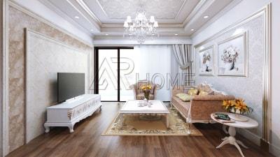 Nét đẹp sang trọng trong Thiết kế nội thất biệt thự Cổ điển nhà chị Linh
