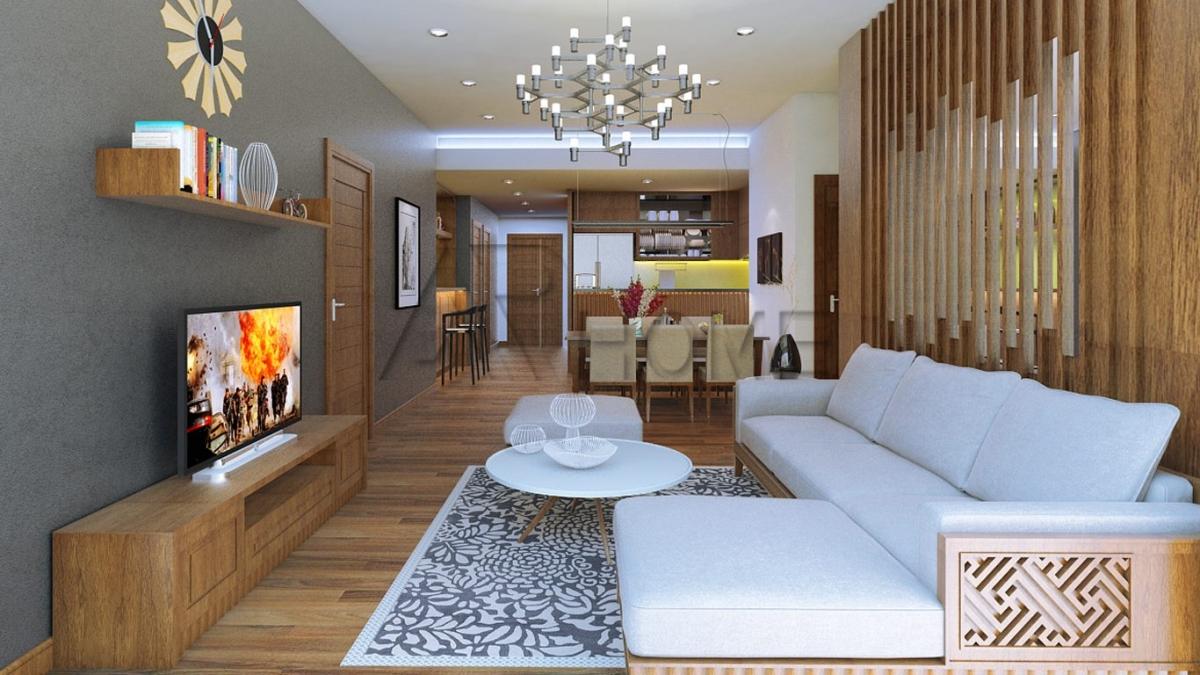 Mẫu thiết kế nội thất nhà phố 2 tầng đẹp nhà bà Nghị, Cầu Diễn, Hà Nội