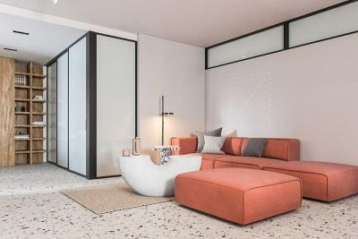 Thiết kế nội thất chung cư hiện đại siêu đẹp sử dụng nhiều màu sắc bất ngờ
