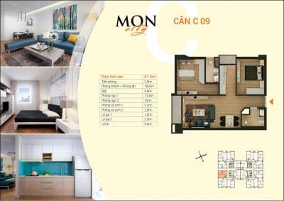 Báo giá thi công nội thất trọn gói chung cư HD Mon City