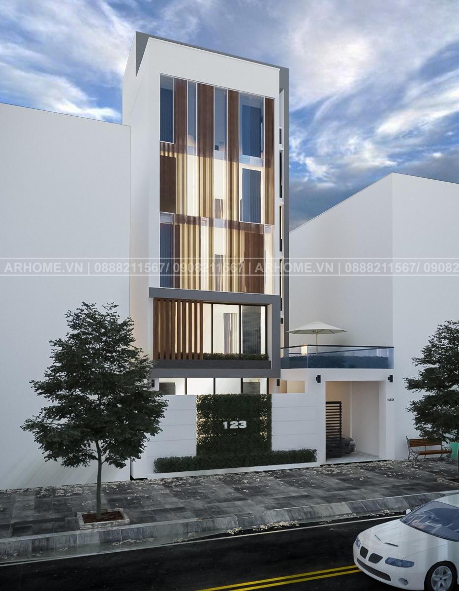 Mẫu thiết kế nhà phố kết hợp văn phòng hiện đại, sang trọng tại Nguyễn Xiển - Hà Nội