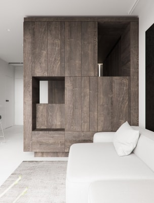 Phân chia không gian trong căn hộ diện tích 44m2