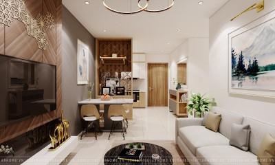 Tuyệt đẹp với thiết kế nội thất căn hộ 2 phòng ngủ 55m2 Vinhomes Smart City của Cô Bình