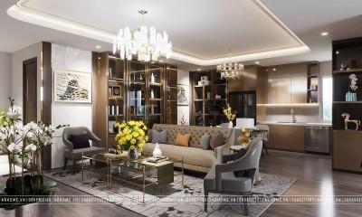 Thiết kế nội thất căn hộ chung cư N05 Hoàng Đạo Thuý phong cách Hiện Đại