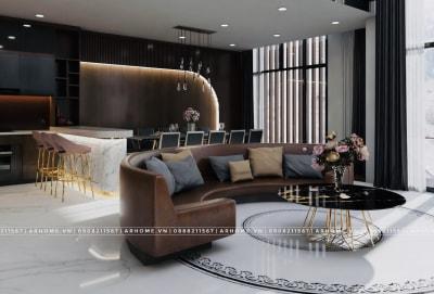 Chiêm ngưỡng vẻ đẹp sang trọng ở thiết kế nội thất nhà phố của anh Dũng
