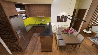 Bí quyết chọn màu sắc cho thiết kế nội thất phòng bếp hợp phong thủy