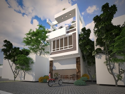 Top 5 mẫu nhà phố 3 tầng mặt tiền 4.5m hiện đại nhất Hà Nội