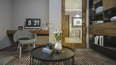 Mẫu thiết kế nội thất phòng đọc sách cho biệt thự chú Hùng, Nghệ An