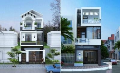 20 mẫu Thiết kế Nhà phố 3 tầng đẹp có mặt tiền ấn tượng