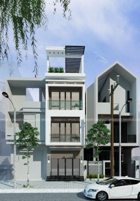 Top 5 mẫu nhà phố 4 tầng 4x16m hiện đại nhất