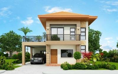 Mẫu Thiết kế Biệt thự đẹp 2 tầng hiện đại có sân thượng rộng rãi, thoáng mát