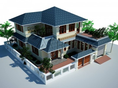 Độc đáo với mẫu thiết kế biệt thự 2 tầng hiện đại 300m2 ở Quốc Oai