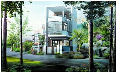 Gợi ý thiết kế nhà phố 2 mặt tiền kết hợp kinh doanh