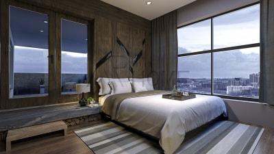 Mẫu thiết kế nội thất phòng ngủ màu xanh tuyệt đẹp cho năm 2018