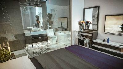 Cuốn hút với những mẫu thiết kế nội thất phòng ngủ chung cư Bộ công an và chung cư Galexia