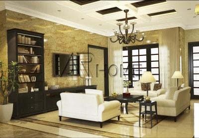 Mẫu thiết kế nội thất phòng khách nhà phố đẹp ấn tượng
