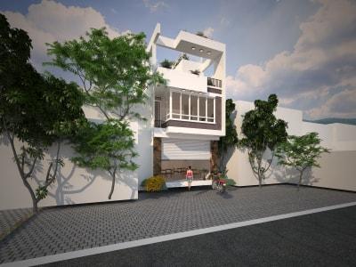 Mẫu nhà phố 3 tầng vô cùng tiện nghi dành cho gia đình 3 thành viên