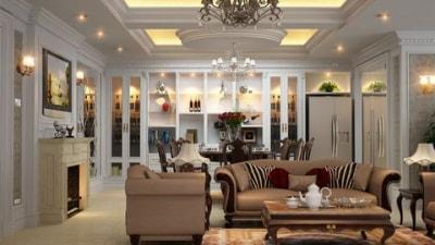 Cách thiết kế nội thất phòng khách theo cách cổ điển