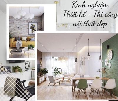 Các lưu ý quan trọng khi thiết kế thi công nội thất chung cư trọn gói
