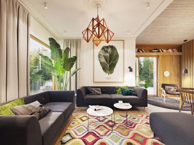 Màu xanh lá trong nội thất giúp căn hộ thêm ấm áp và cá tính