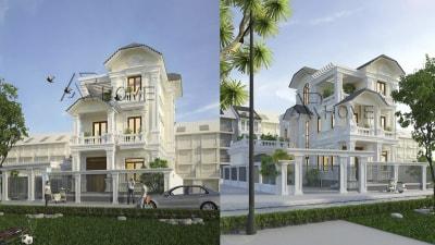 Những mẫu biệt thự Pháp 3 tầng tuyệt đẹp tại Hà Nội