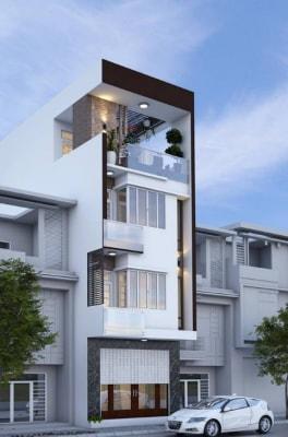 Những mẫu nhà phố 4 tầng 5x15m hiện đại