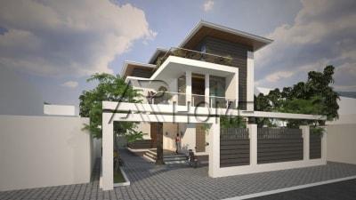 Chiêm ngưỡng vẻ đẹp hiện đại trong thiết kế biệt thự 2 tầng 1 mái nhà anh Thanh, Tuyên Quang