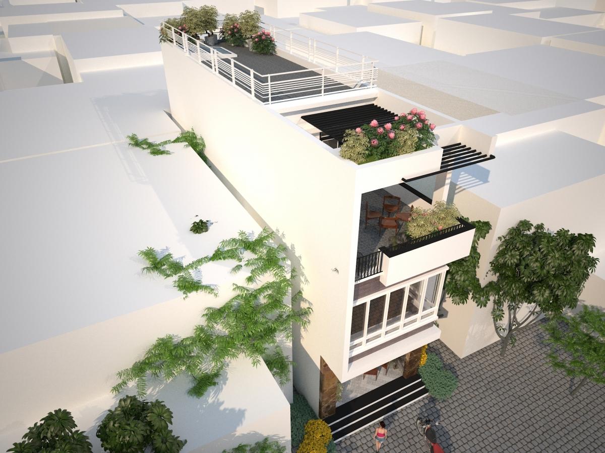 Những mẫu nhà phố 3 tầng có 3 phòng ngủ và 1 phòng thờ đẹp nhất