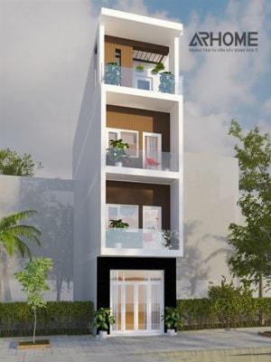 Gợi ý thiết kế nhà phố 4 tầng mặt tiền 4m kết hợp kinh doanh