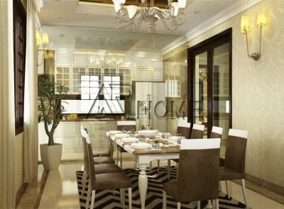 Chiêm ngưỡng mẫu thiết kế nội thất phòng ăn màu vàng hiện đại