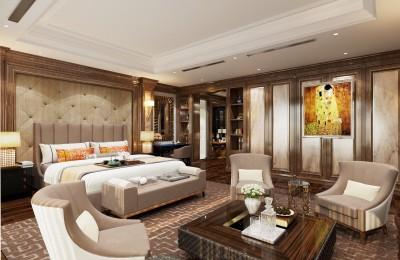 Thiết kế nội thất phòng ngủ biệt thự luxury