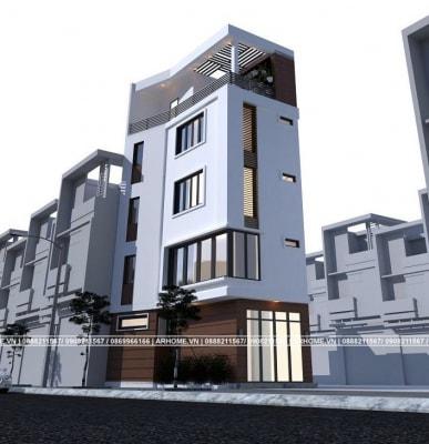 6 Mẫu Thiết Kế Nhà Phố Đẹp 4 tầng do Arhome Thực hiện