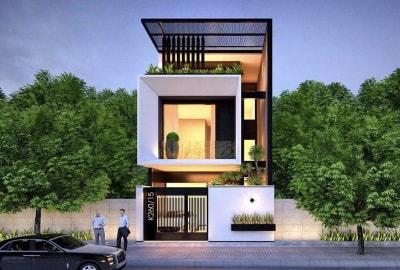 Thiết kế nhà phố hiện đại 3 tầng mặt tiền 6m đầy ấn tượng và tiện nghi