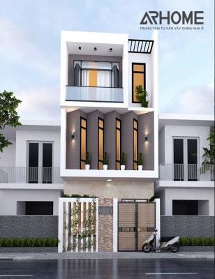 Mẫu nhà phố 3 tầng hiện đại diện tích 4x18m