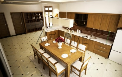 Mẫu thiết kế nội thất phòng bếp biệt thự tuyệt đẹp
