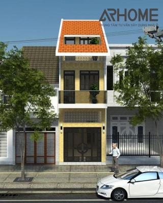 10 mẫu nhà phố 3 tầng mặt tiền 4m đẹp hút hồn