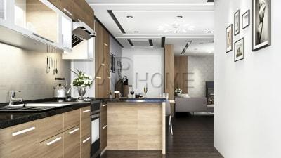 Cách thiết kế nội thất phòng bếp liền phòng khách